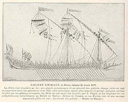 La Galère amirale La Réales, gravure de 1697