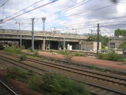 L'ancien quai direction banlieue vue d'une rame du RER C.