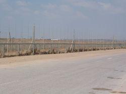 La barrière de Gaza.