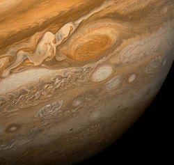 La Grande tache rouge vue de Voyager 1