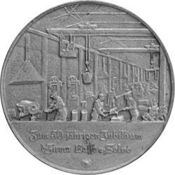 Gustav Selve, verso d'une médaille de la firme Basse & Selve
