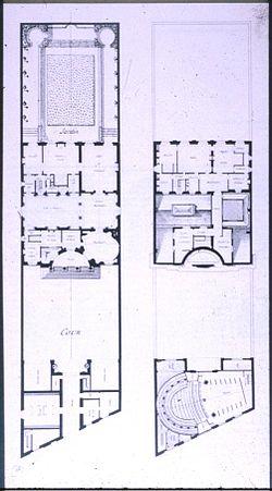 Hôtel de Mlle Guimard - Plan du rez-de-chaussée