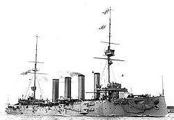 le croiseur cuirassé britannique Good Hope