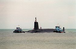 Le SNLE HMS Vanguard