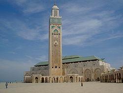 La célèbre mosquée Hassan II, de Casablanca