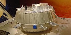 Une maquette à l'échelle de la sonde