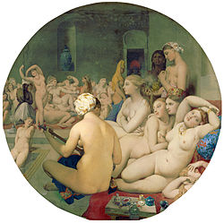 Le bain turc Tableau orientaliste de Dominique Ingres (1862).