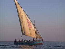 Dhow en Mozambique