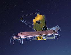 Vue d'artiste du James Webb Space Telescope