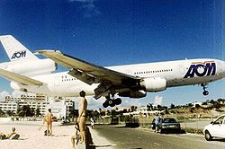 Atterrissage à Princess Juliana Airport