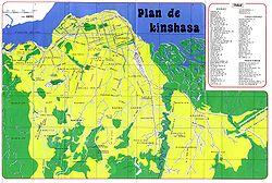 Carte du centre de Kinshasa, 2001