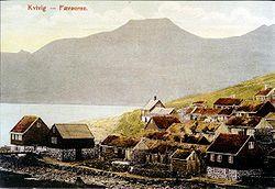 Village islandais de Kvivik (1900)