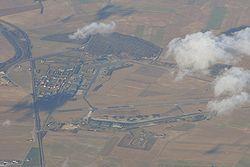 Vue aérienne de la BA112 en janvier 2008
