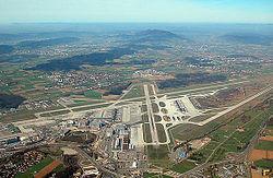 Vue générale de l'aéroport de Zurich