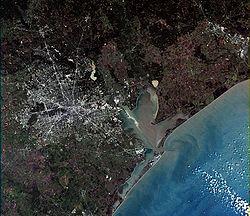 Image prise par le satellite Landsat 7