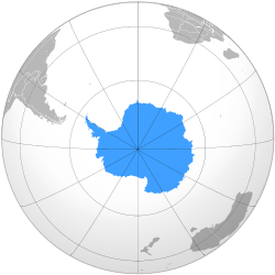 L'Antarctique vue du pôle Sud