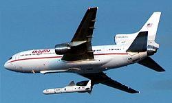 Lancement de la fusée Pegasus XL depuis un Lockheed L-1011 TriStar