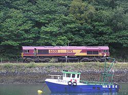 Locomotive 66001 à Fowey (Cornouailles)