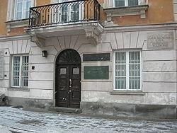 Maison natale de Marie Curie à Varsovie.