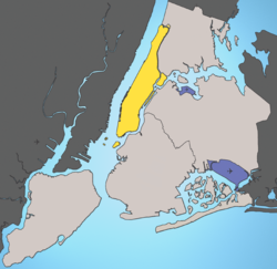 Manhattan et les cinq boroughs de New York
