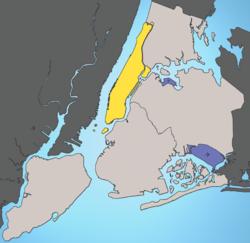 Manhattan et les cinq boroughs de New York