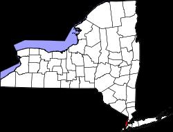 Emplacement du comté de New York dans l'État de New York