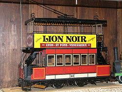 Maquette d'un tramway à impériale de la ligne 12