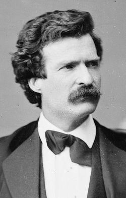 Mark Twain sur une photographie de Mathew Brady du 7février1871.