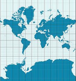Un exemple de projection de Mercator