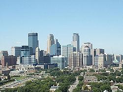 Vue générale de Minneapolis