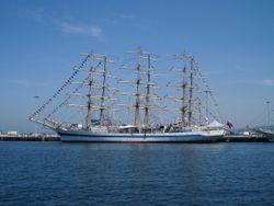 Lors de la Tall Ships' Race 2005 à Cherbourg
