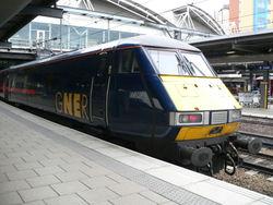 Voiture-pilote Mark 4 en gare de Leeds
