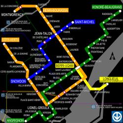 Plan du métro de Montréal