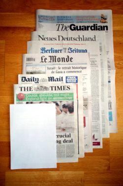 Exemple de presse écrite: journaux européens