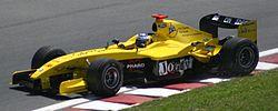 Nick Heidfeld sur la Jordan au GP du Canada 2004.