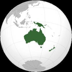Carte de localisation de l'Océanie.