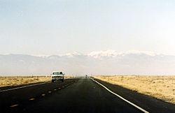 Route bitumée du Colorado