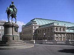 Façade du Staatsoper de Vienne