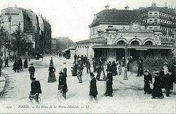La gare de la Porte Maillot