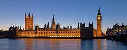 Le palais de Westminster de nuit