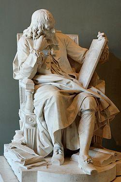 Blaise Pascal, marbre d'Augustin Pajou (1785), musée du Louvre