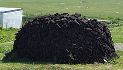 Stock de tourbe, Écosse