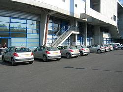 Peugeot 207 de fonction des 11 joueurs du FC Sochaux au Stade Auguste-Bonal de Sochaux.