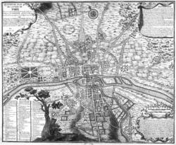 Plan de Paris en 1223