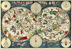 Carte céleste du XVIIe siècle, réalisée par le cartographe hollandais Frederik de Wit.