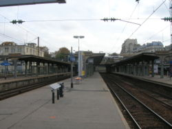 La gare vue c�t� quais.