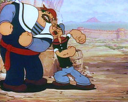 Popeye rencontre Brutus en Sinbad dans Popeye the Sailor Meets Sindbad the Sailor (1936)