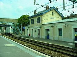 La gare vue du quai