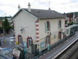 La gare vue de la passerelle
