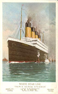 Le paquebot transatlantique RMS Olympic